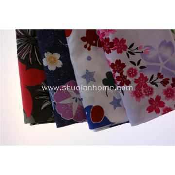 90 polyester /10 cotton plain printed fabric