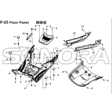 F-05 Floor Panel for XS125T-16A Fiddle III Spare Part Top Quality