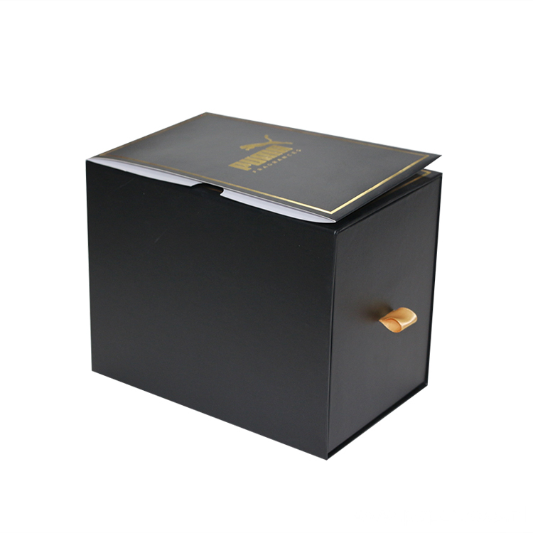 Black Gift Paper Boxes With Ribbon