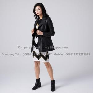 Lady Stylish Sheepskin Leather Jacket