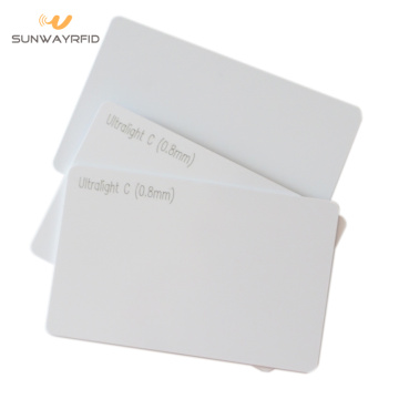 Thermal printable 13.56mhz MIFARE Ultralight C NFC Card