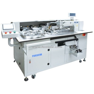 Double Needle Fully Automatic Pocket Setter Machine