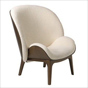 Fauteuil HUG chair by solid wood frame