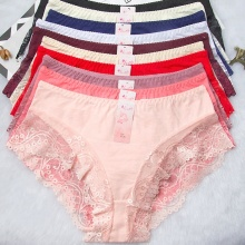 China for China Small Size Panty,Small Panties,Small Bikini Panties Supplier Low Waist lace embroidery panties sexy g-string supply to France Manufacturers