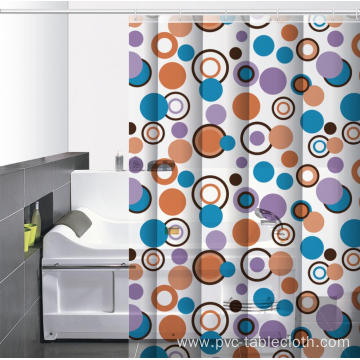 Shaped Waterproof Bathroom printed Shower Curtain