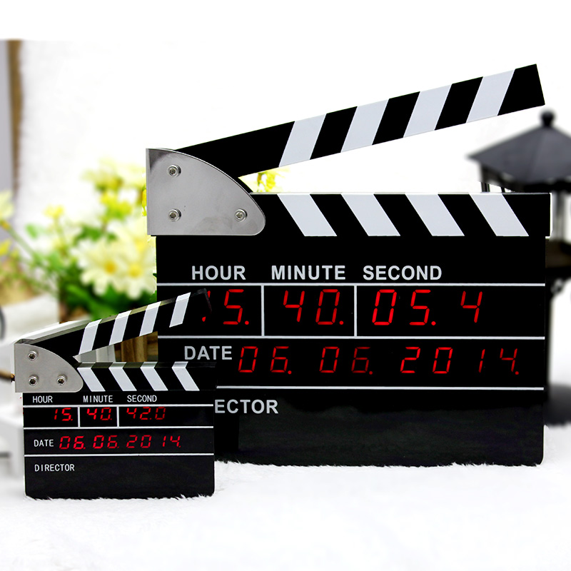 Digital Clock Movie Clapper