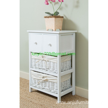 Shabby Chic 2 Drawer Bedside Console Table