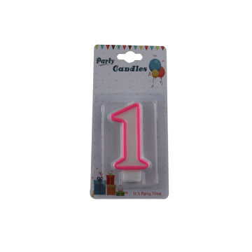 Paraffin Wax Birthday Number Candles