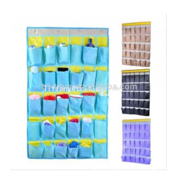 New design Quality Non Woven over the door hanging organizer colorful hooks Hanging Wall Pocket Organizer for sale