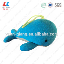 Blue Whale animal sponge bathing
