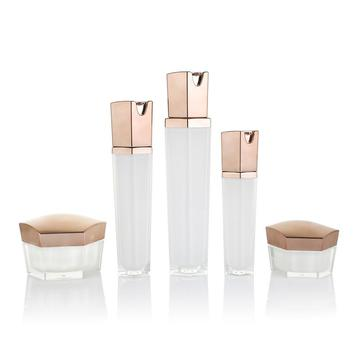Hexagonal lotion bottle cream bottle cosmetic bottle set