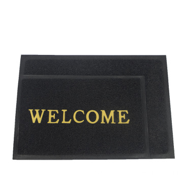 PVC floor mat with welcome design