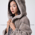 Lady Kopenhagen Mink Fur Overcoat In Winter