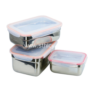Airtight Stainless Steel Food Storage Containers With Lid