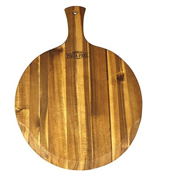 Woods PPAL Gourmet Acacia Hardwood Pizza Peel/Cutting Board/Serving Tray, Large, 21.25 x 16 x 0.625: Wood Pizza Board: Platters
