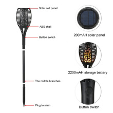 Waterproof Solar Light Outdoor Dancing Flickering Flames Torches Lights