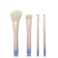 4pc ombre houtgreep make-up borstel set