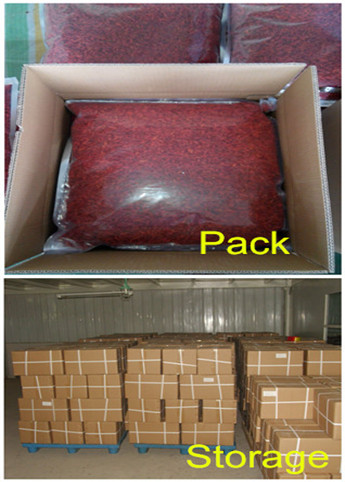 Goji berry pack storage