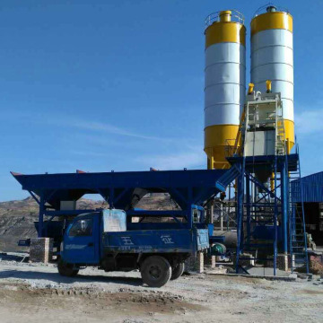 HZS35 mini skip type concrete batching plant Russia