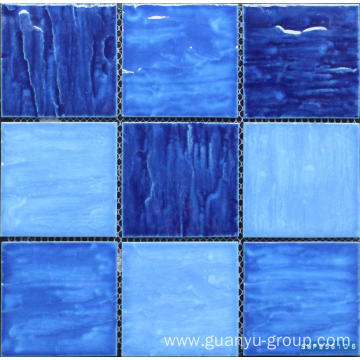 95x95 Color Mixed Bumpy Surface Porcelain Mosaic