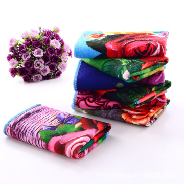 Floral Printed Towel For Kitchen Microfiber Towels