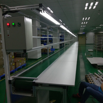Mobile Assembly Line Conveyor System With Working Table