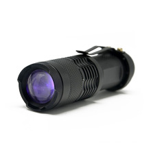 China for China Aluminum Led Flashlight,Aluminum Torch,Electric Focus Led  Flashlight Supplier Mini Zoomable 365nm Led UV  Flashlight supply to Malawi Factory