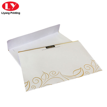 White C5 Envelope with Gold Logo and Window