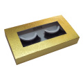 Gold Paper Embossing Rectangle Eyelashes Paper Box