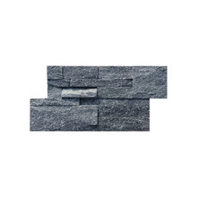 Good Quality for Wall Stone Cladding 18×35cm Beautiful Black Quarzite Natural Stacked Stone supply to South Korea Manufacturers