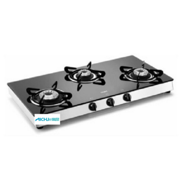 Table Glass Gas Stove 3 Burners