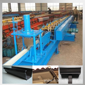 color steel rain gutter making machine