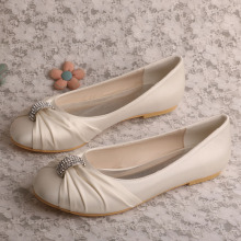 Ivory Wedding Flat Shoes for Bride