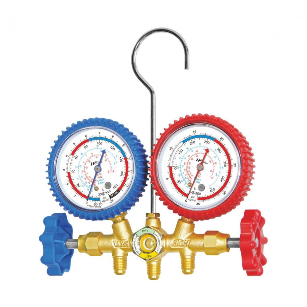 Brass manifold gauge set CT-536A