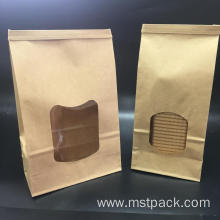Flat Bottom Pouch/Paper Bag with Window for Bread