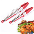 BBQ Grill Serving Silicone Kitchen Cooking Tongs