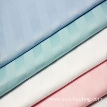 Organic Cotton Sateen Stripe Fabric