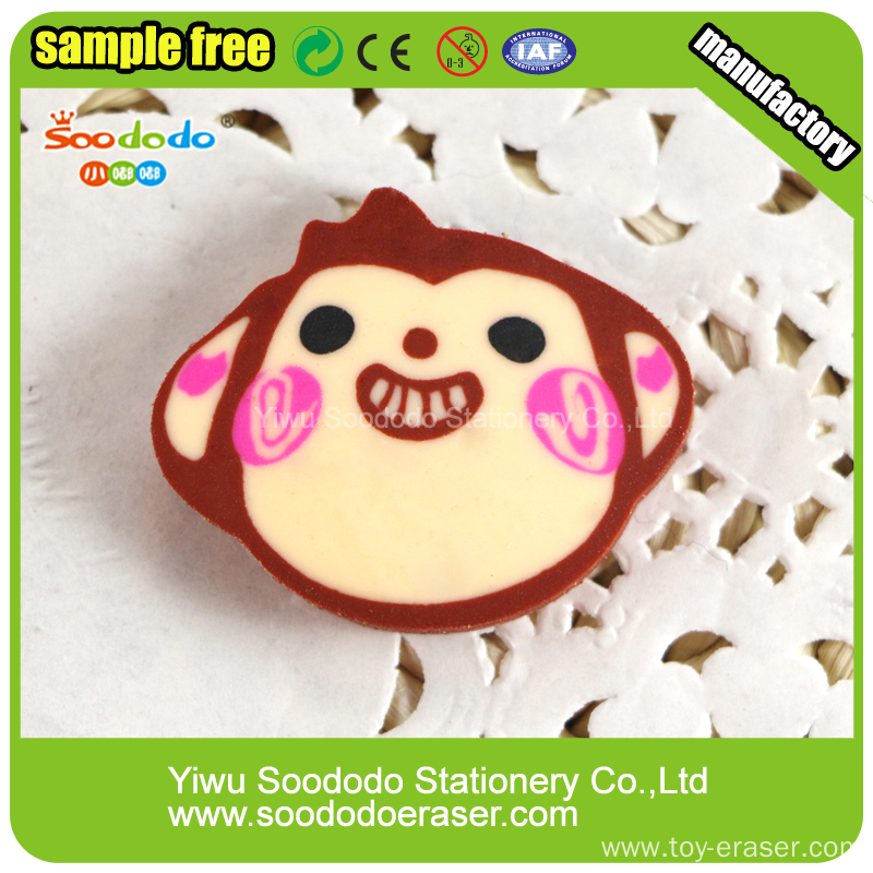Animal shape extruded customed eraser product