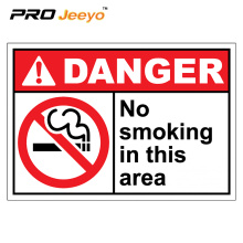 no smoking plastic danger plate signs