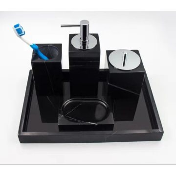 black marble household items-vanity accessories