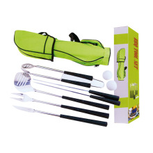 Best Price for for BBQ Tools With Apron or Bag 8pcs BBQ golf set with carry bag export to India Manufacturer