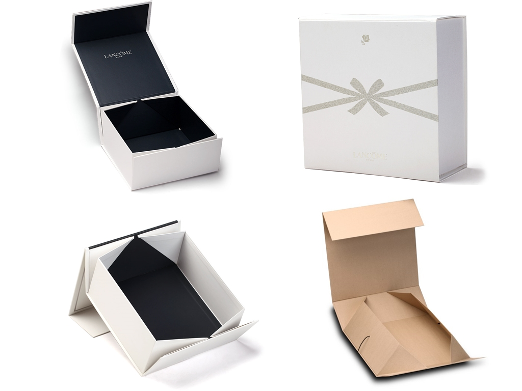 collapsible box with corner folding