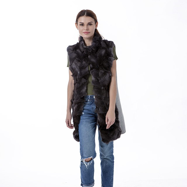 Fashion cashmere fur vest