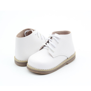 Kids Winter White Shoelace baby boots