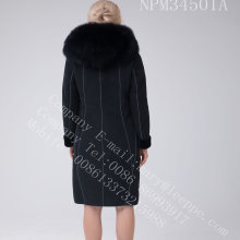 Bright Thread Decoration Australia Merino Shearling Women Coat