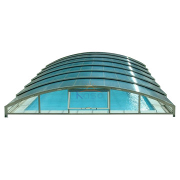 Transparent Cover Truss Swimming Pool With Roof