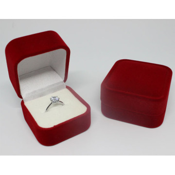Handwork Velvet Wedding Ring Packaging Paper box