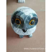 Free sample for China Animal Sculpture,Stone Dog Statue,Stone Owl Statue Manufacturer and Supplier Grey granite owl carving export to Portugal Manufacturer