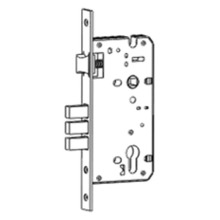 Multipoint mortise lock with square deadbolt