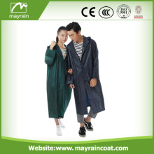 Black Durable PVC Raincoat
